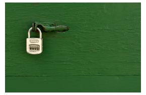 Green Lock (via Flickr)